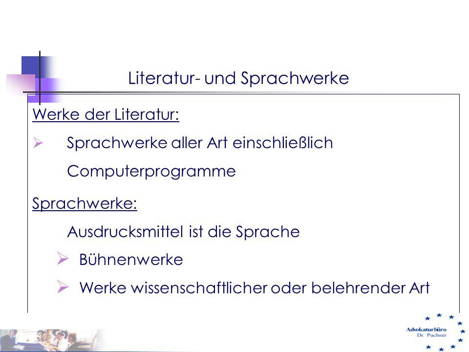 Literatur- und Sprachwerke