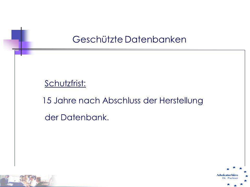 Geschützte Datenbanken
