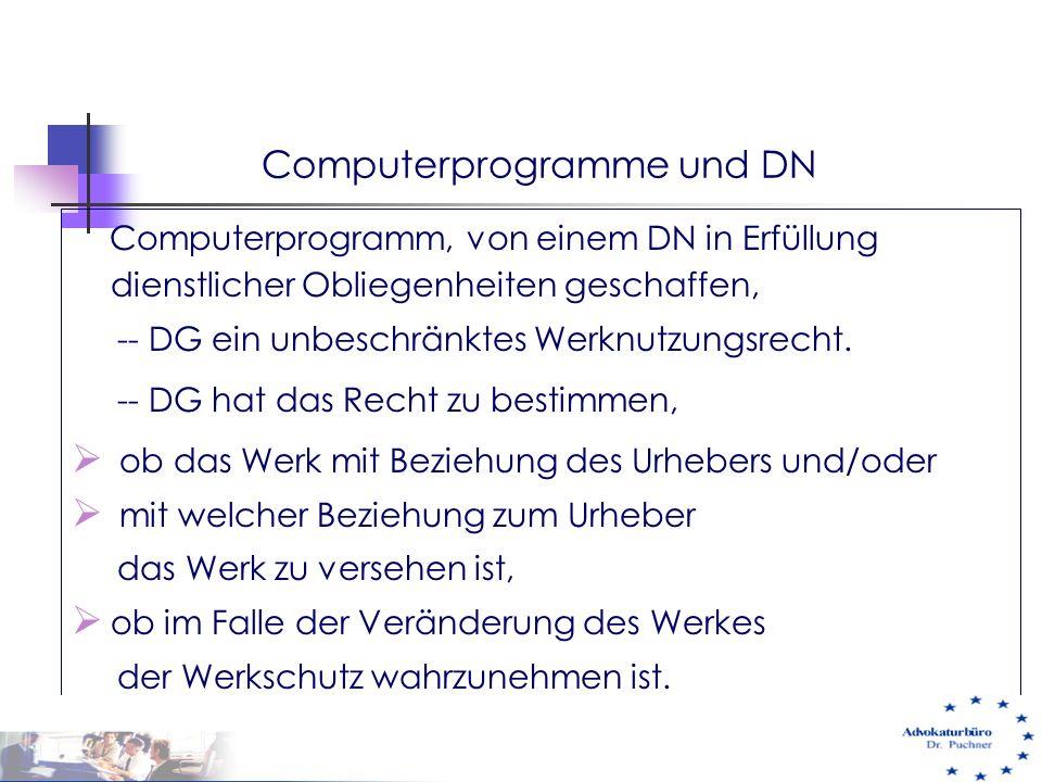 Computerprogramme und DN