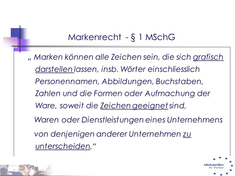Markenrecht - § 1 MSchG