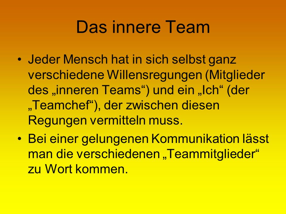 Das innere Team