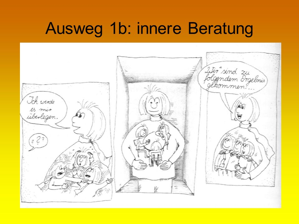 Ausweg 1b: innere Beratung