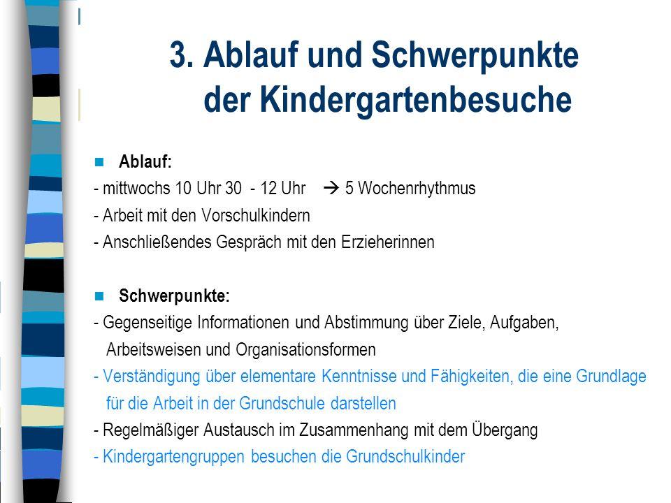 3. Ablauf und Schwerpunkte der Kindergartenbesuche