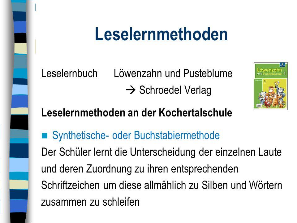 Leselernmethoden Leselernbuch Löwenzahn und Pusteblume