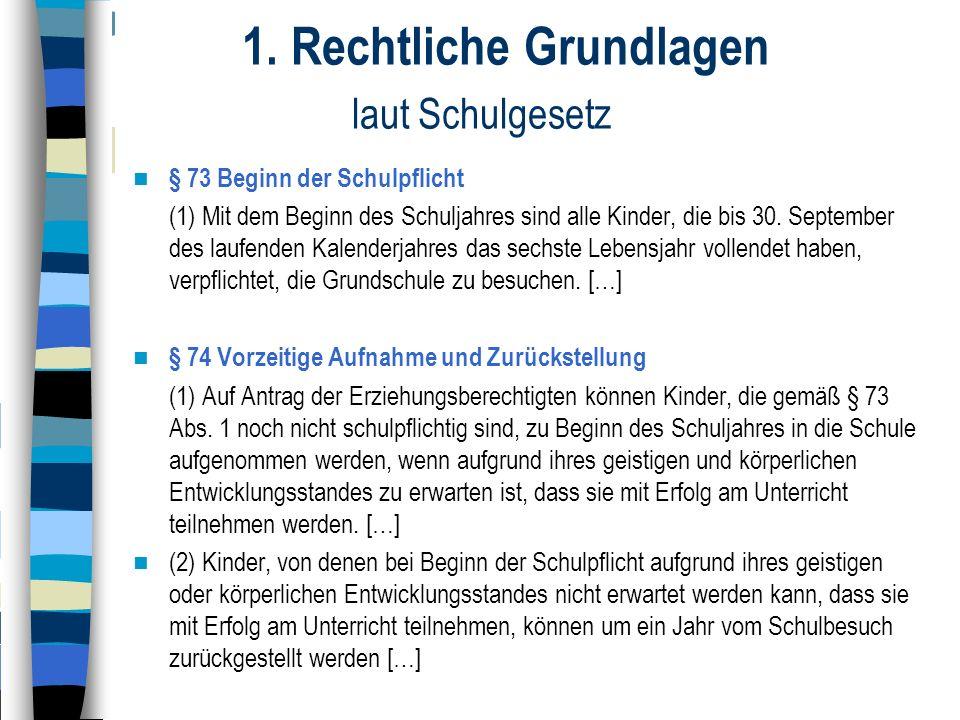 1. Rechtliche Grundlagen laut Schulgesetz