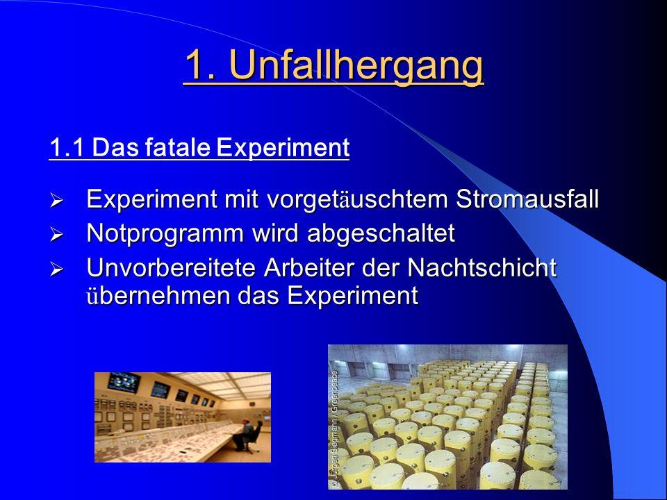 1. Unfallhergang 1.1 Das fatale Experiment