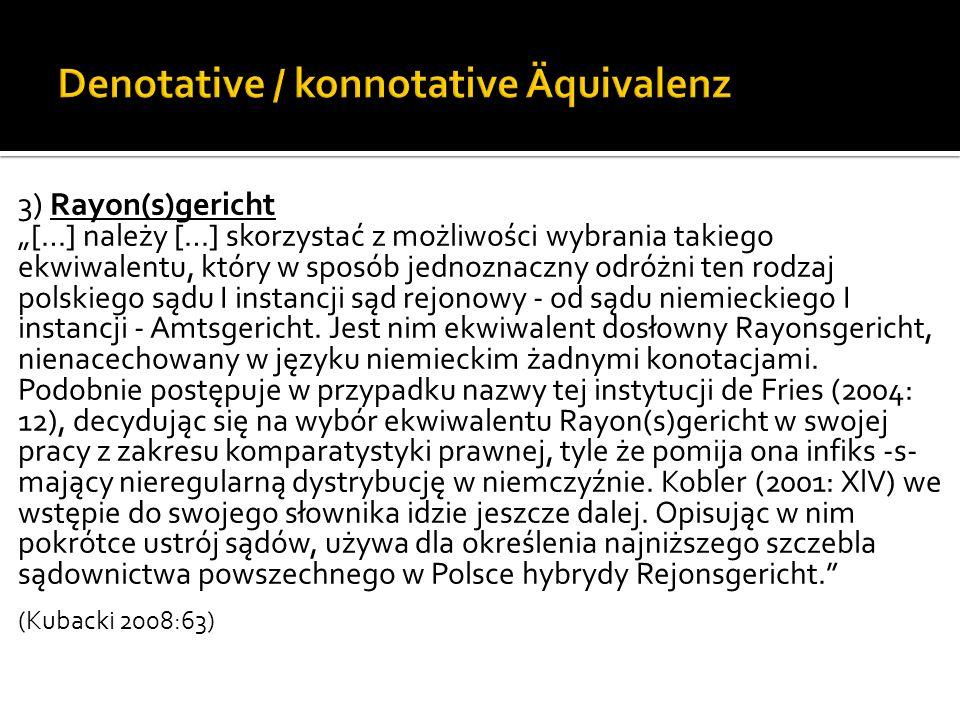 Denotative / konnotative Äquivalenz