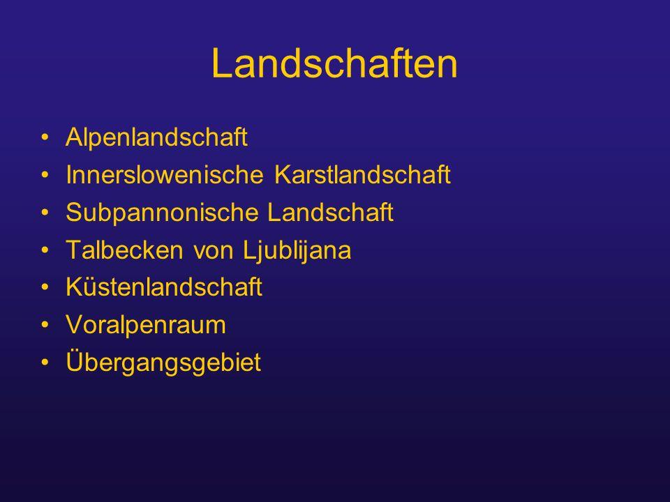 Landschaften Alpenlandschaft Innerslowenische Karstlandschaft