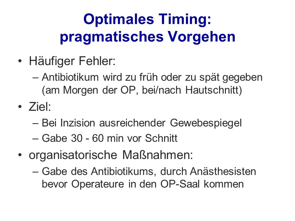 Optimales Timing: pragmatisches Vorgehen
