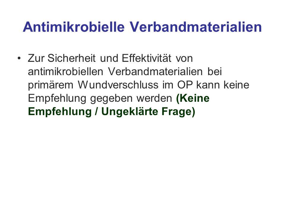 Antimikrobielle Verbandmaterialien