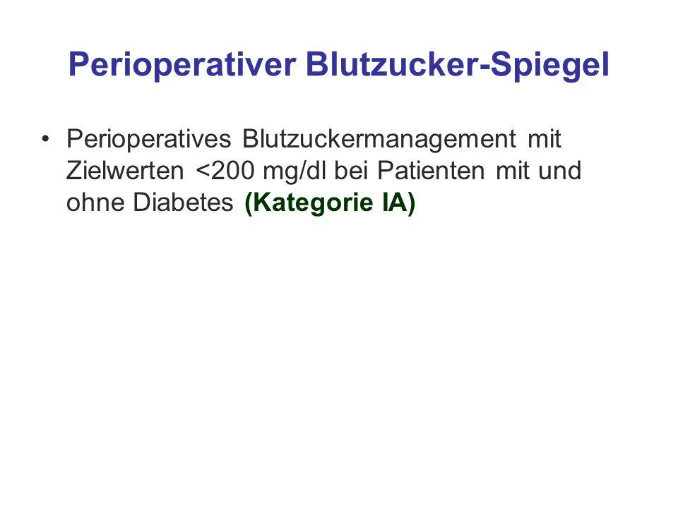 Perioperativer Blutzucker-Spiegel
