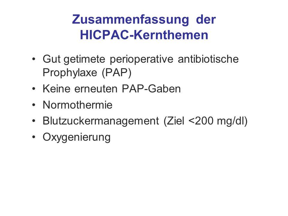 Zusammenfassung der HICPAC-Kernthemen