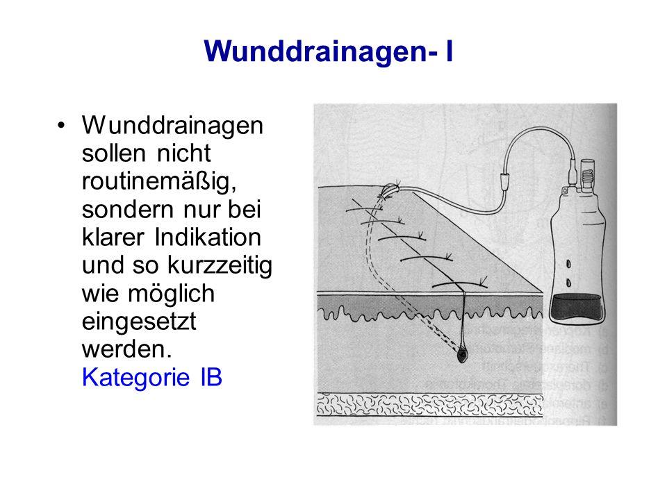 Wunddrainagen- I
