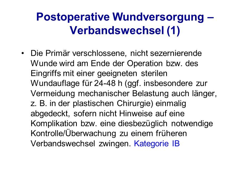 Postoperative Wundversorgung – Verbandswechsel (1)