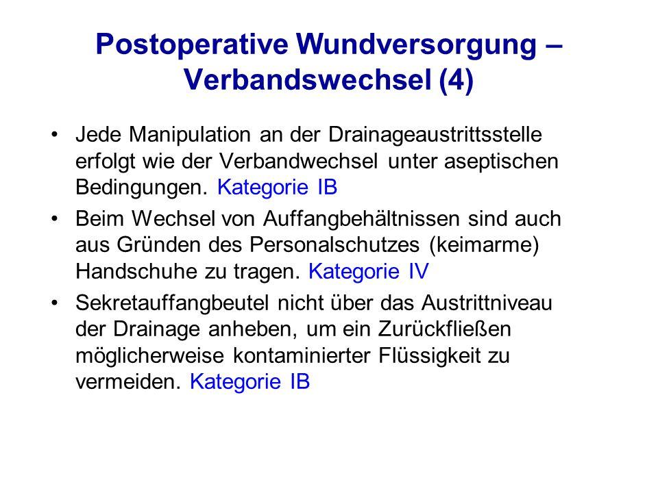 Postoperative Wundversorgung – Verbandswechsel (4)