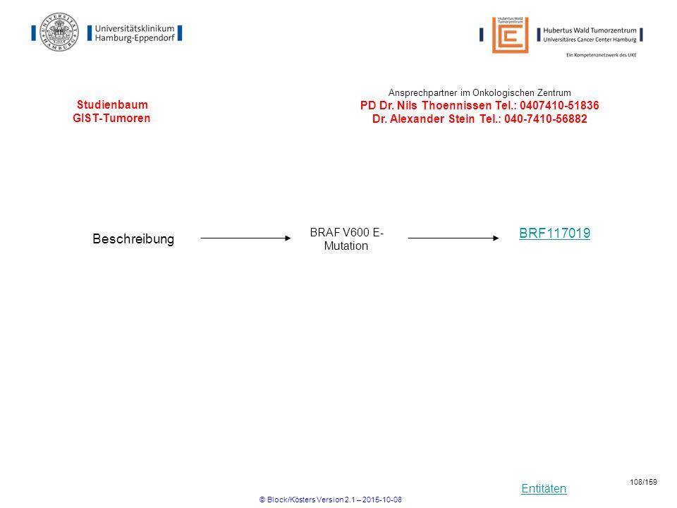 Studienbaum GIST-Tumoren