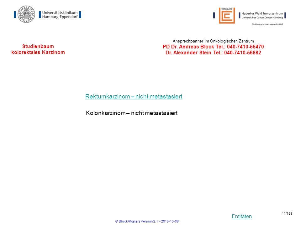 Studienbaum kolorektales Karzinom