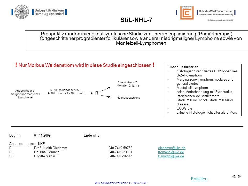 ! Nur Morbus Waldenström wird in diese Studie eingeschlossen !