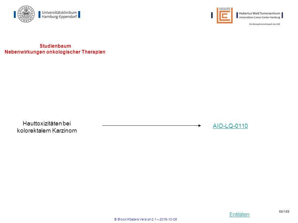 Studienbaum Nebenwirkungen onkologischer Therapien