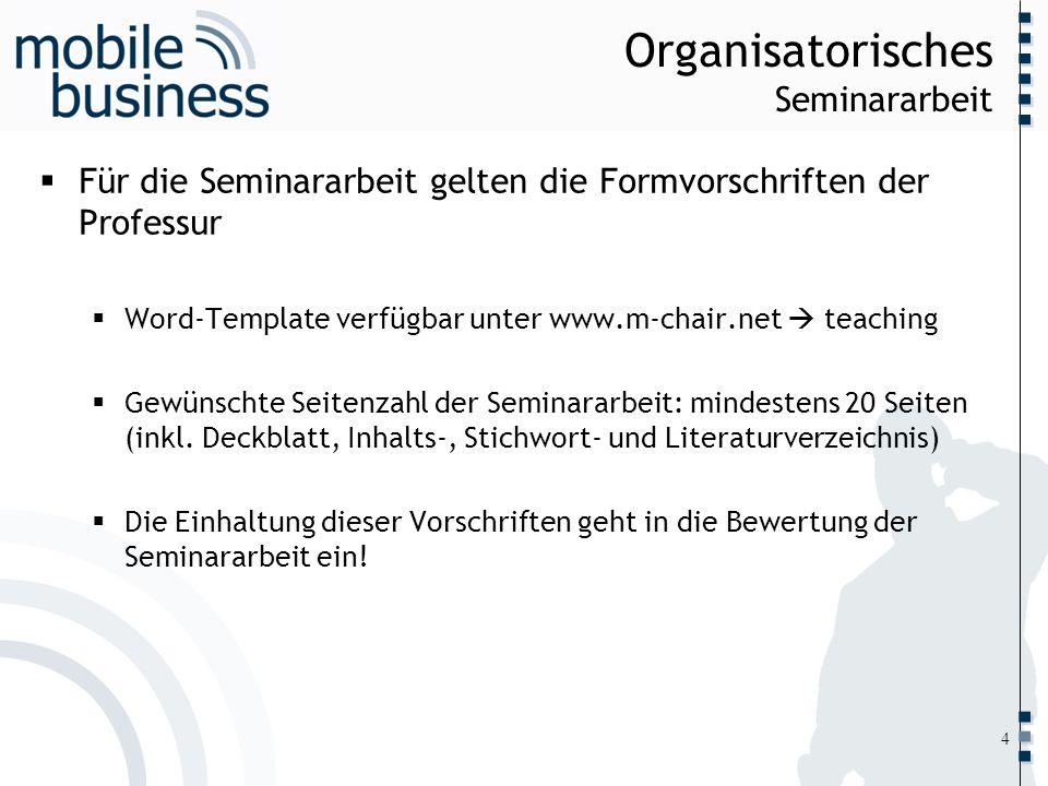 Organisatorisches Seminararbeit