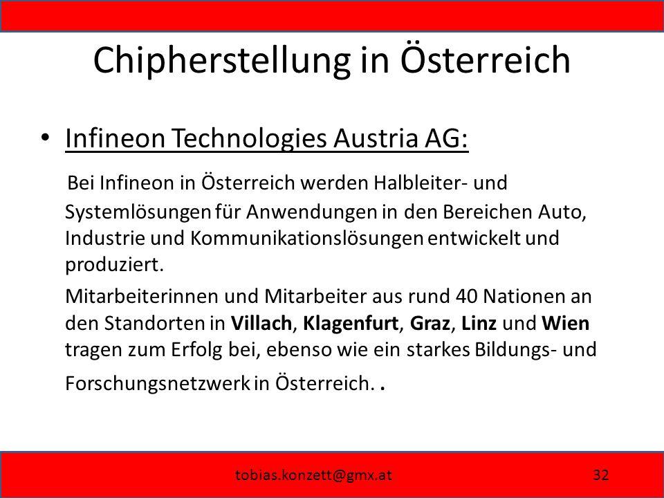 Chipherstellung in Österreich