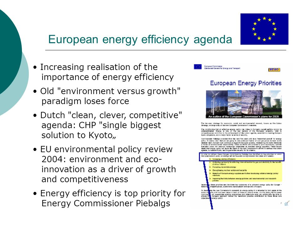 European energy efficiency agenda