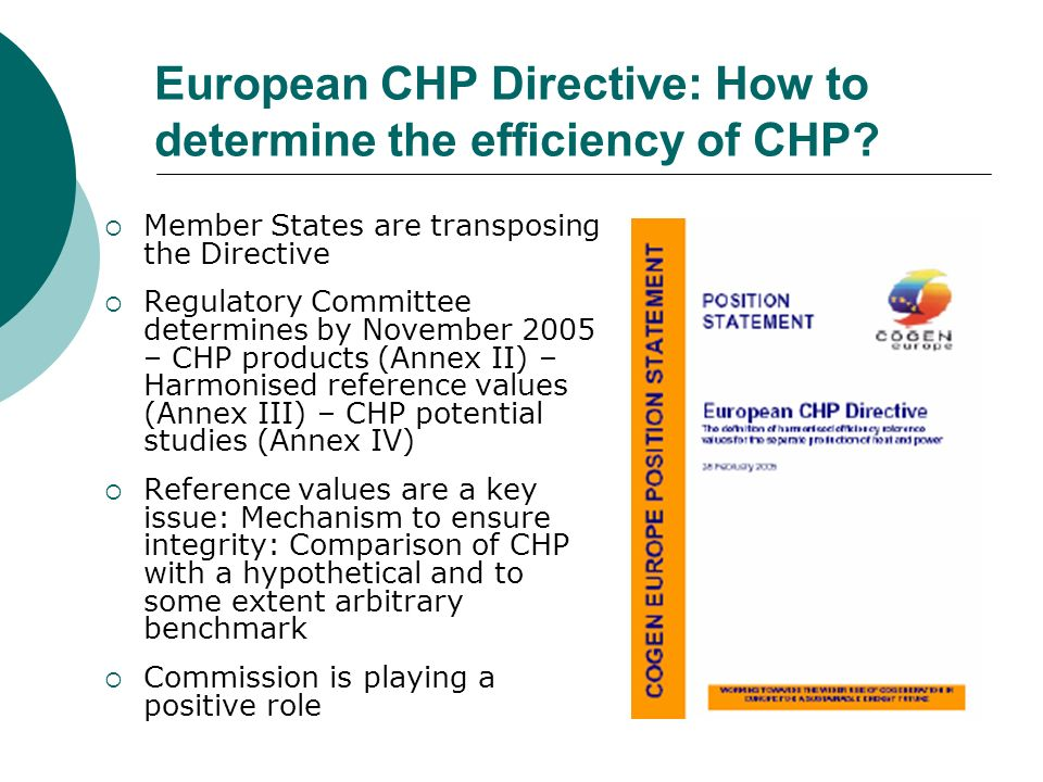 European CHP Directive: How to determine the efficiency of CHP