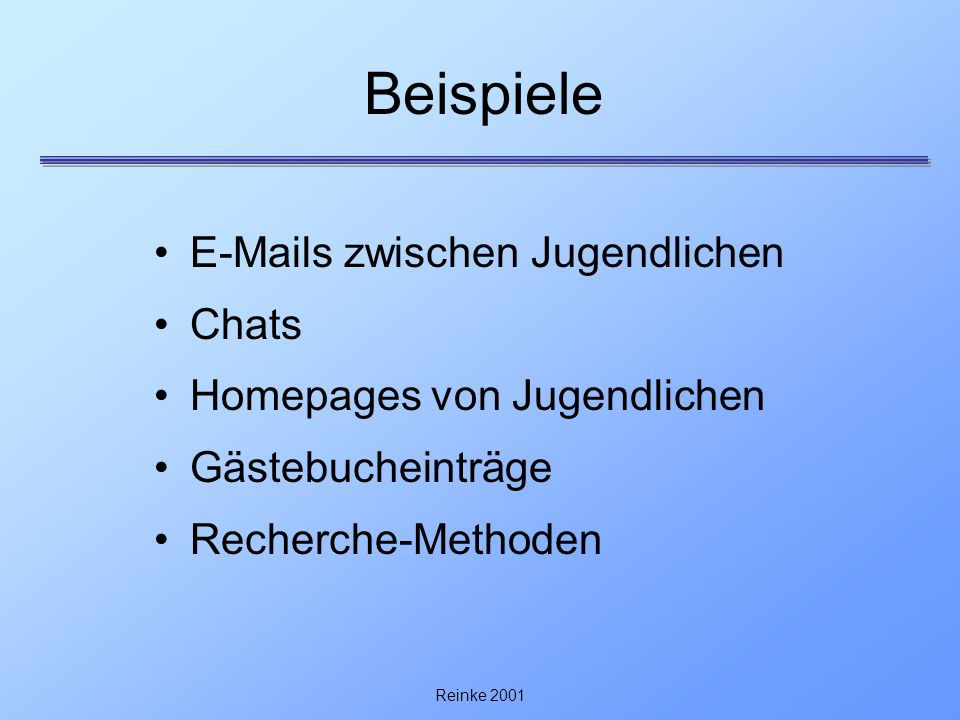 Beispiele E-Mails zwischen Jugendlichen Chats