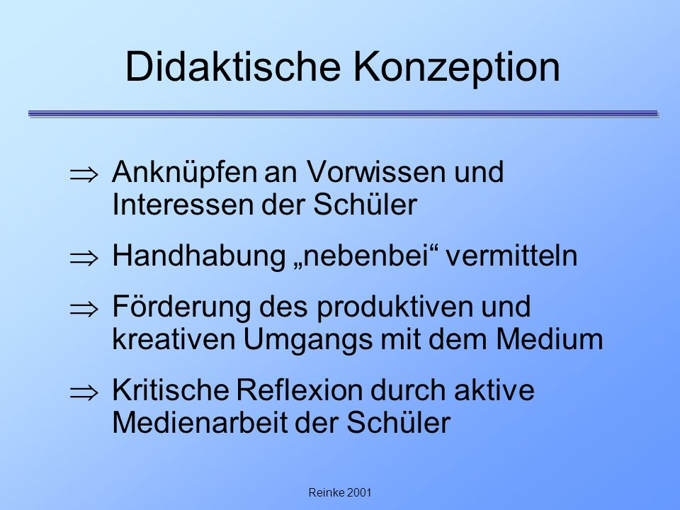 Didaktische Konzeption