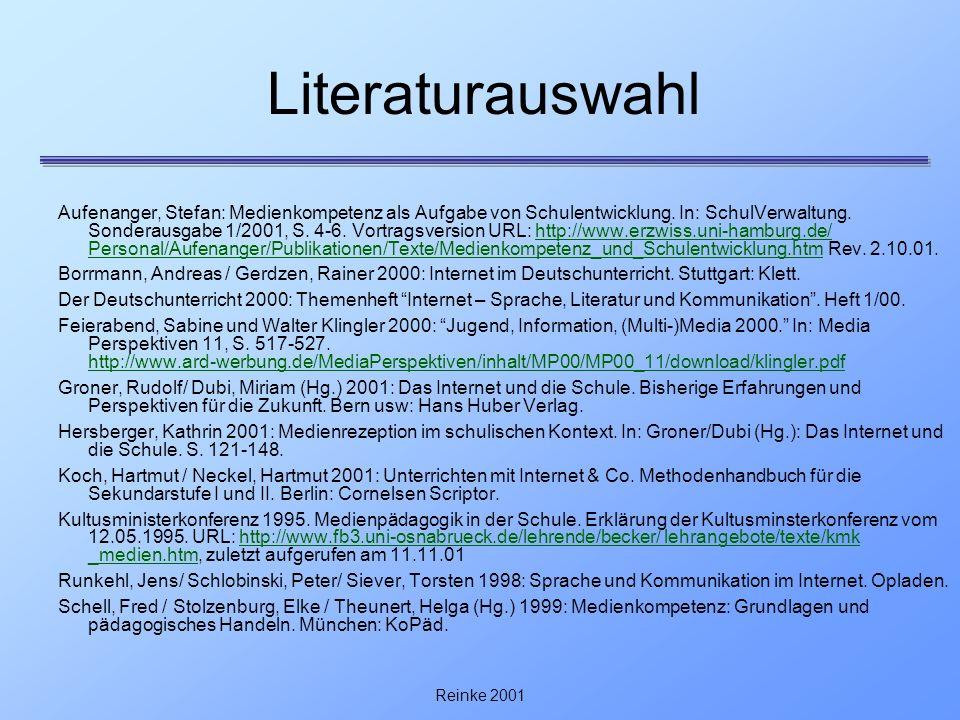 Literaturauswahl