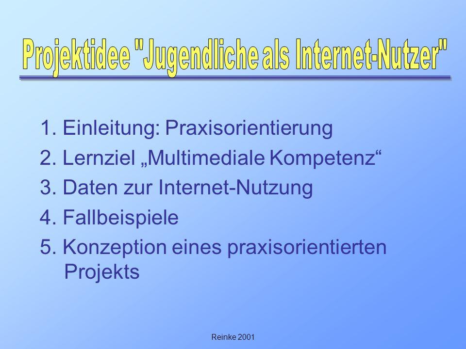 Projektidee Jugendliche als Internet-Nutzer
