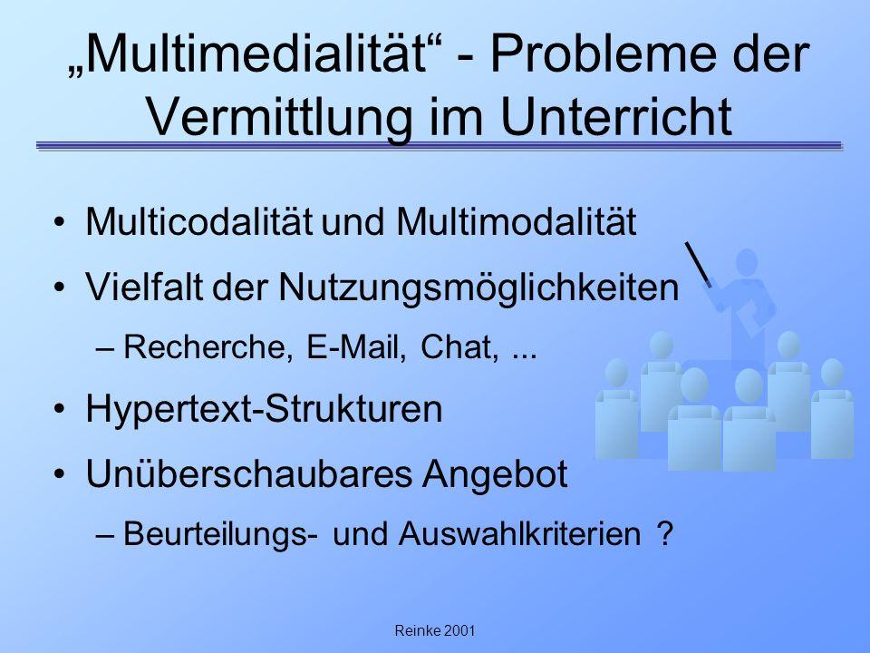 """""""Multimedialität - Probleme der Vermittlung im Unterricht"""