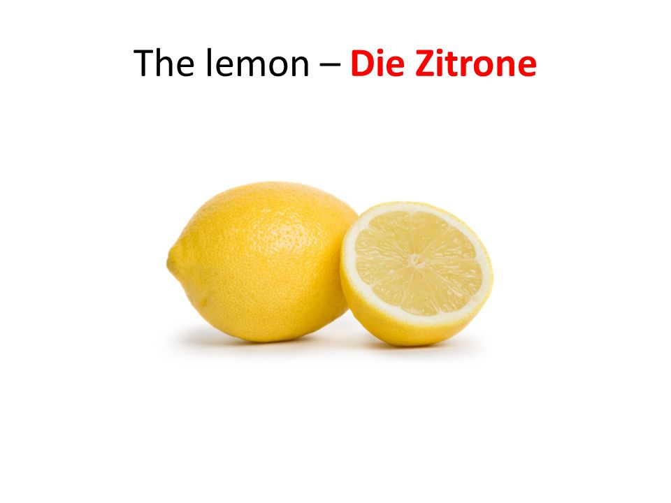 The lemon – Die Zitrone