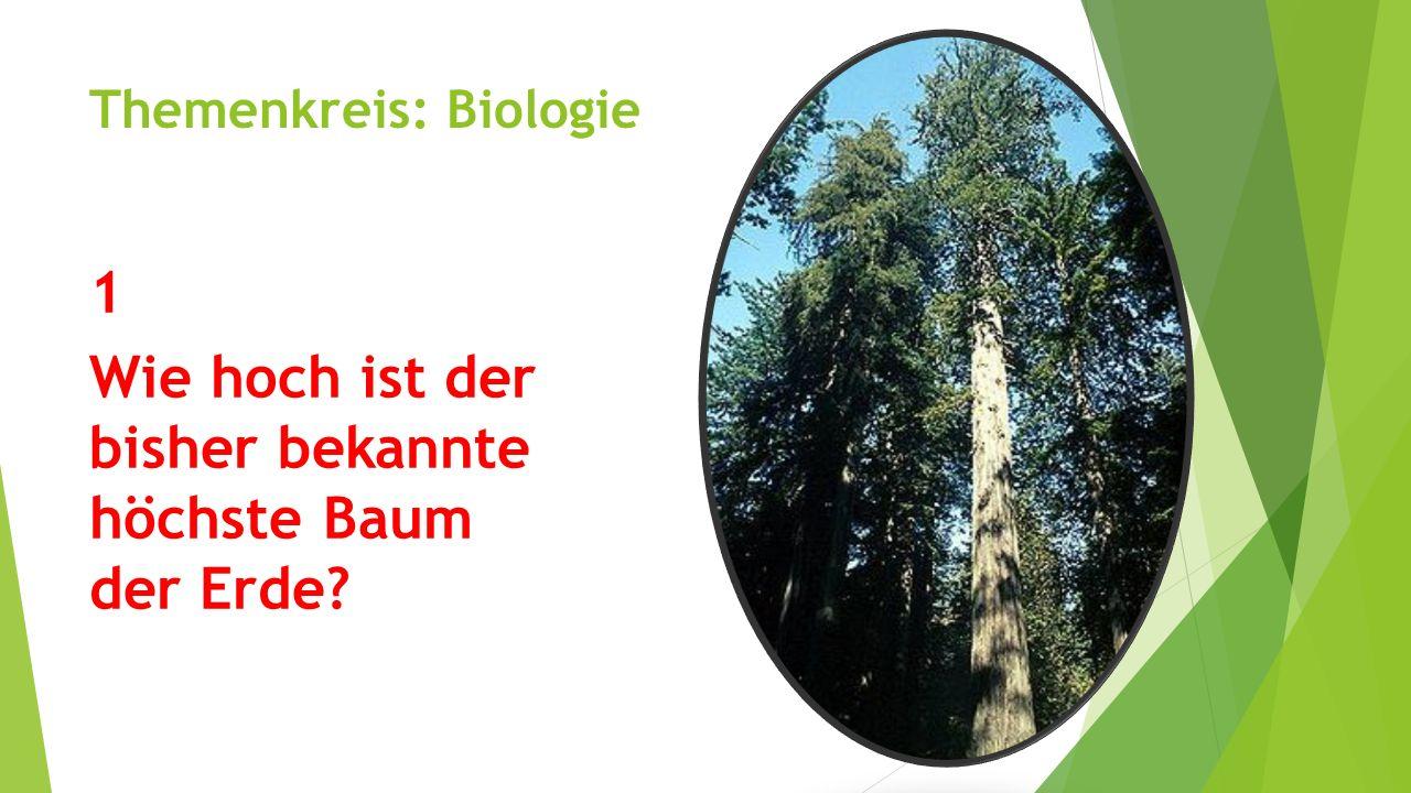 Themenkreis: Biologie