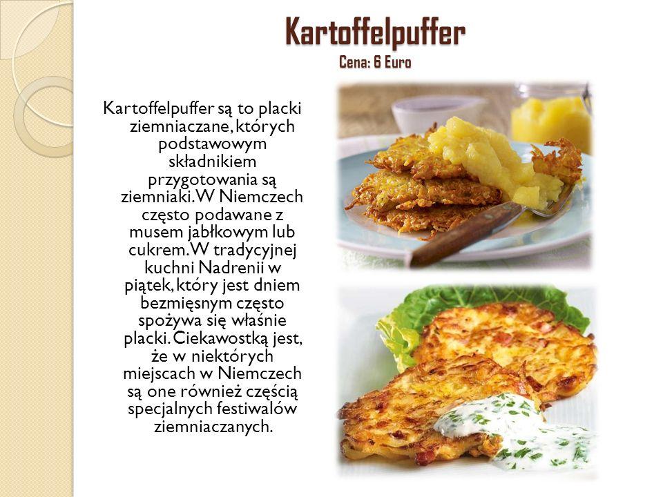 Kartoffelpuffer Cena: 6 Euro