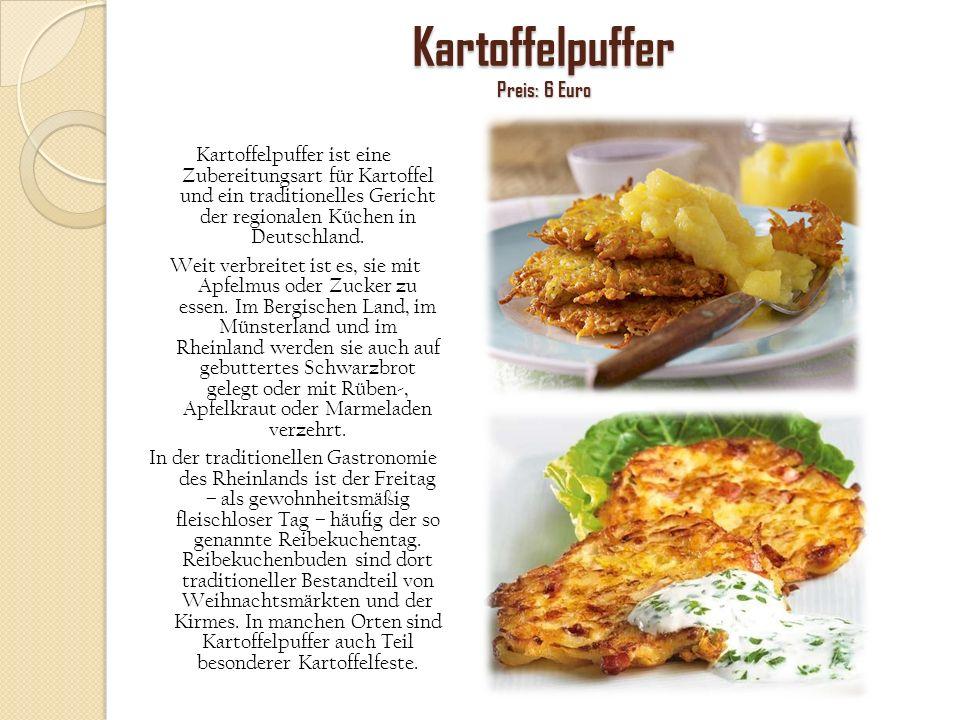 Kartoffelpuffer Preis: 6 Euro