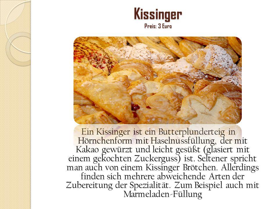 Kissinger Preis: 3 Euro