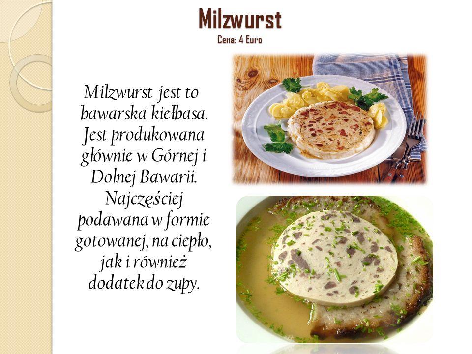 Milzwurst Cena: 4 Euro