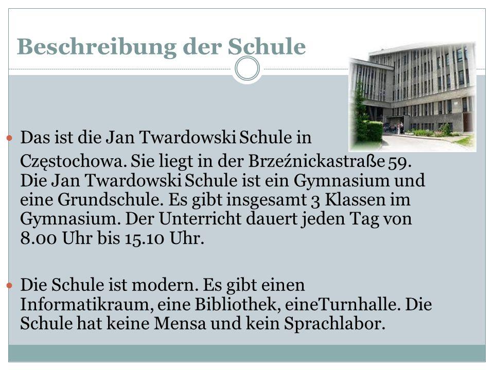 Beschreibung der Schule