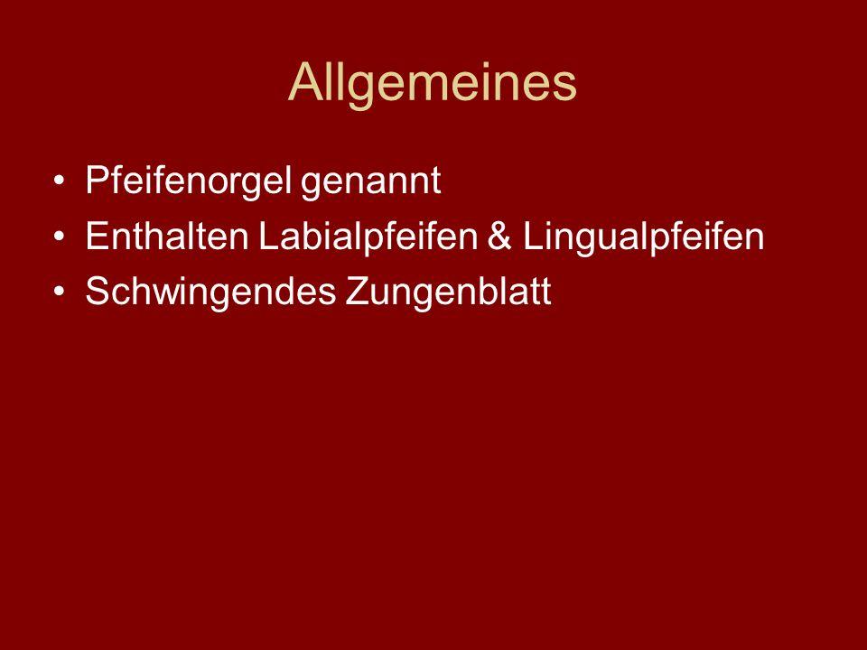 Allgemeines Pfeifenorgel genannt