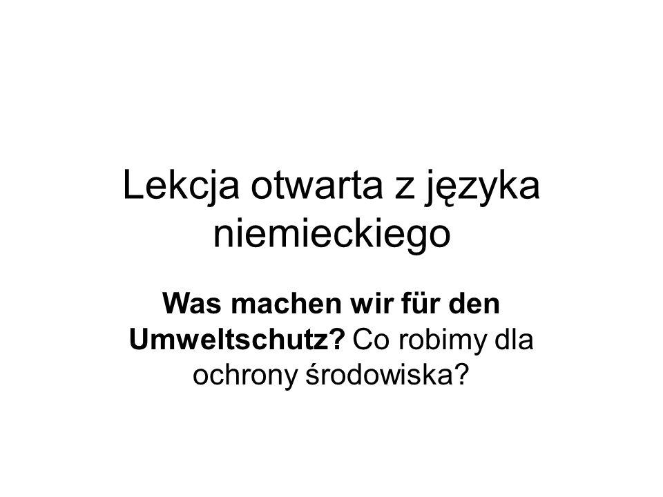 Lekcja otwarta z języka niemieckiego