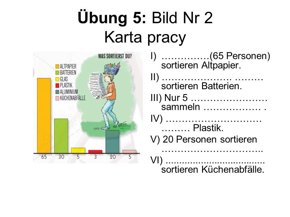 Übung 5: Bild Nr 2 Karta pracy