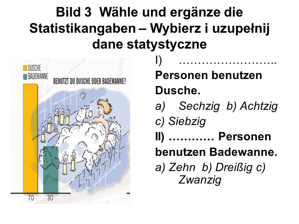 Bild 3 Wähle und ergänze die Statistikangaben – Wybierz i uzupełnij dane statystyczne