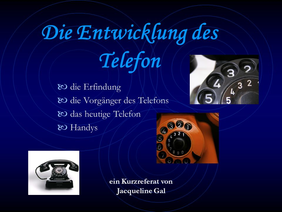 Die Entwicklung des Telefon