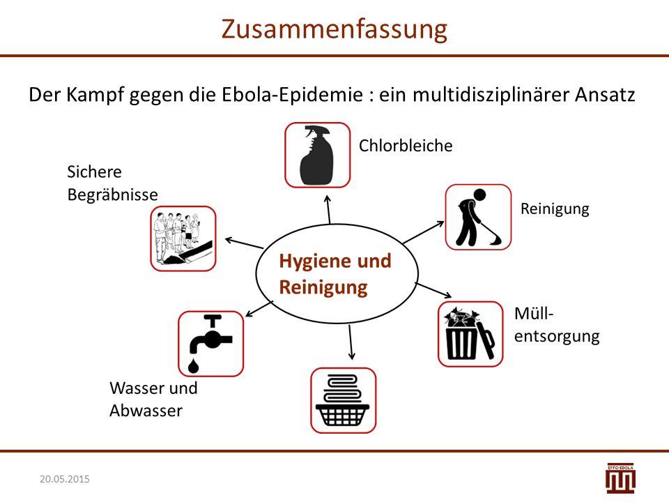 Zusammenfassung Der Kampf gegen die Ebola-Epidemie : ein multidisziplinärer Ansatz 20.05.2015 28
