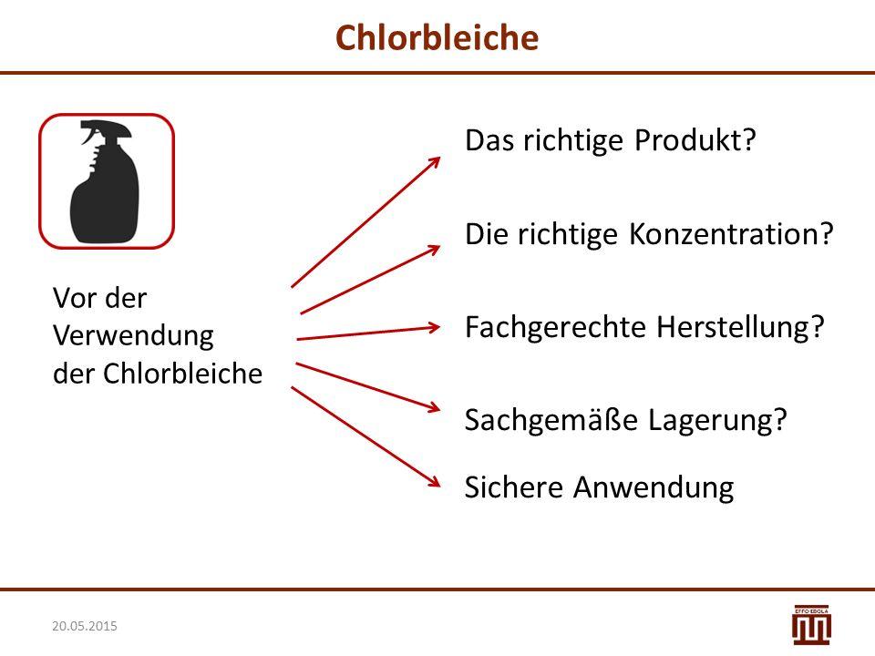 Chlorbleiche Das richtige Produkt Die richtige Konzentration