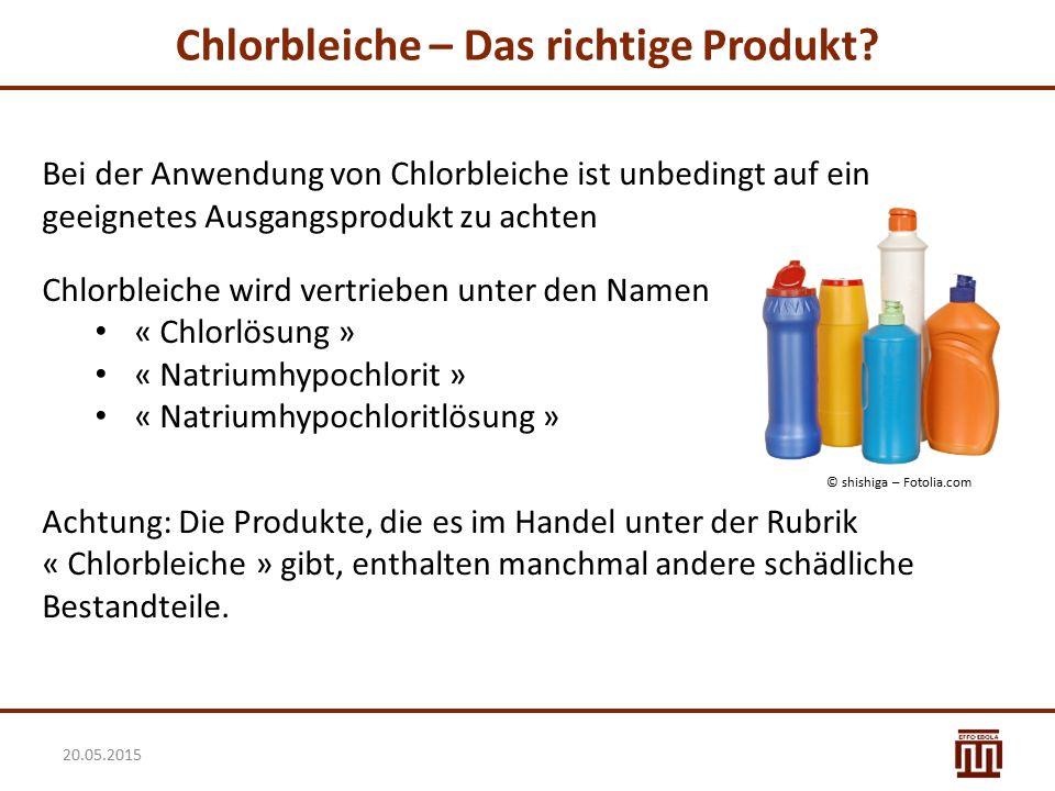 Chlorbleiche – Das richtige Produkt