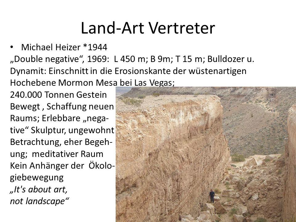 Land-Art Vertreter Michael Heizer *1944