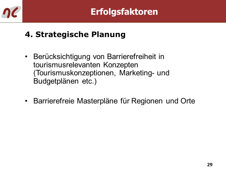 Erfolgsfaktoren 4. Strategische Planung
