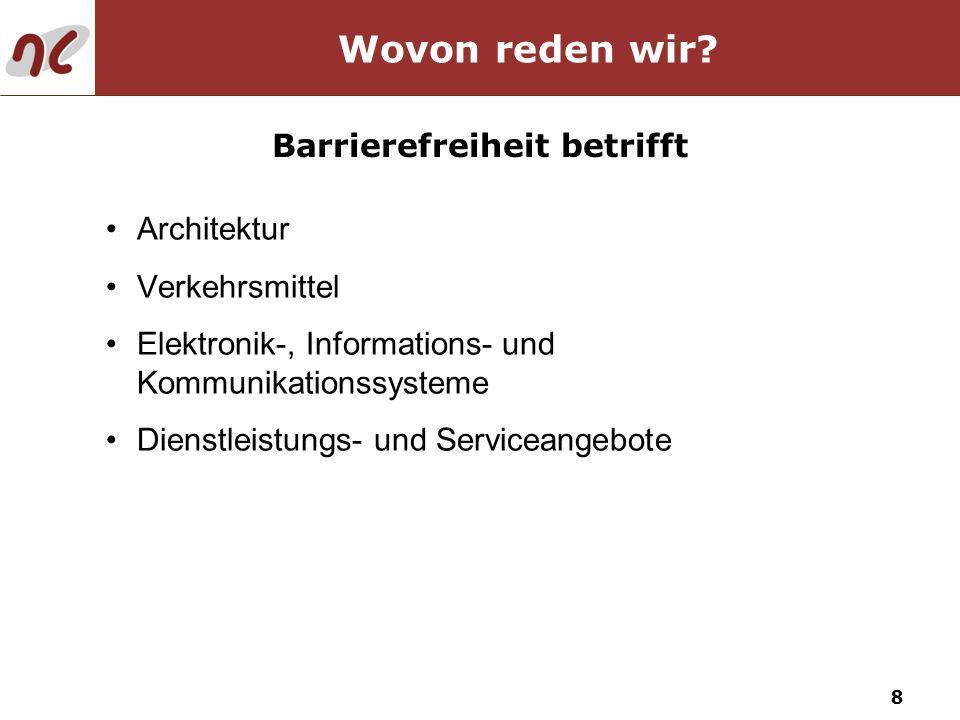 Barrierefreiheit betrifft